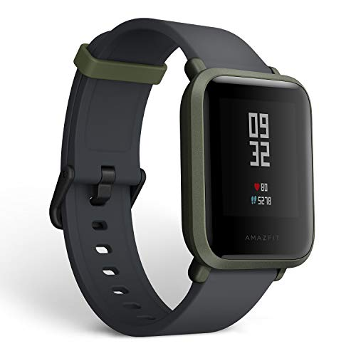 Amazfit Bip Smartwatch Cardiofrequenzimetro GPS da Ciclismo Activity tracker Fitness Sport versione internazionale (Green)
