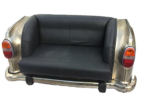 Upcycling Leder Sofa 'Auto Chrome' - 17M6449-163-CH