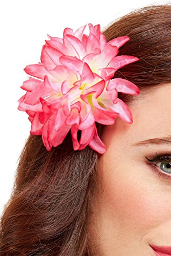 Horror-Shop Hawaiianische Tropen Blume als Haarspange für Mottoparties