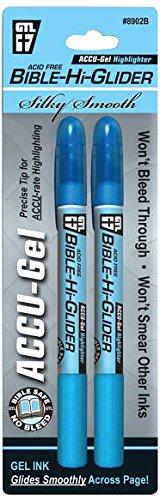 Accu-Gel Bible-Hi-Glider Blue 2/Pk