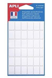 AGIPA Sachet de 210 étiquettes multifonctions permanentes 12x18 mm Blanc