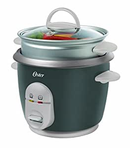 Oster CKSTRC4722-049 1-Litre Rice Cooker with Steam Tray (Grey/Silver)