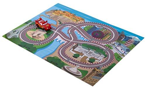 Brigamo 555402 - Disney Cars Wiz Around Puzzle, Bodenpuzzle inkl. Lightning McQueen Spielzeugauto thumbnail