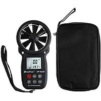 Exing Geschwindigkeitsanemometer,Digitaler Windmesser mit Anemometer, LCD-Hintergrundbeleuchtung und max