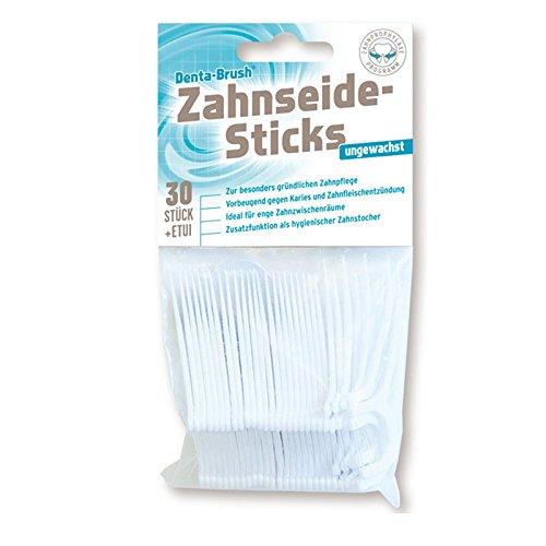 Denta Brush Zahnseide Sticks ungewachst, 300 Stück (10x 30er Pack)