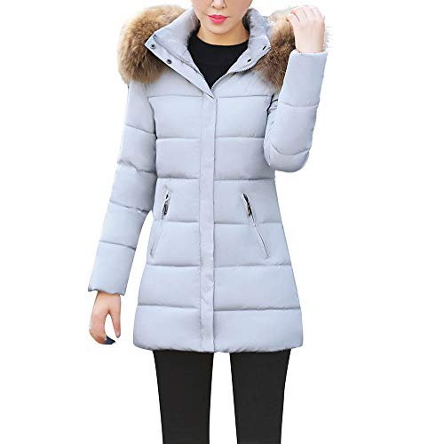 OSYARD Femme Manteau Hiver Manches Longues Pas Cher Chaud Long Solide Hooded Doudoune Trench Coa