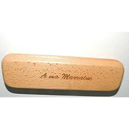 In legno massiccio, Super Custodie inciso per Y mettere il suo più bella penna, Testo: A Ma marainne
