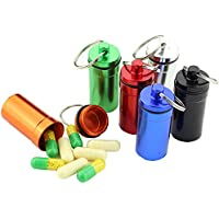 Wawer 6pcs Pillendosen & Pillenhalter Container Medikamentendosierer Kapsel Schlüsselanhänger Wasserdicht Erste-Hilfe-Patrone preisvergleich bei billige-tabletten.eu