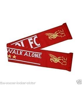Bufanda Jacquard Producto Oficial Club Liverpool FC You'll Never Walk Alone - Nunca Caminarás Solo - Nueva