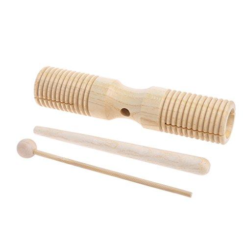 ZOUCY Giocattolo Musicale, Two Tone Wood Block Beater 2-Tone Woodblock Guiro Manico in Legno Giocattolo a percussione