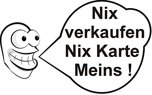 Auto Simpsons Aufkleber (Aufkleber - Nix verkaufen nix Karte Meins - Racing Tuning Auto KFZ Fun Sticker)