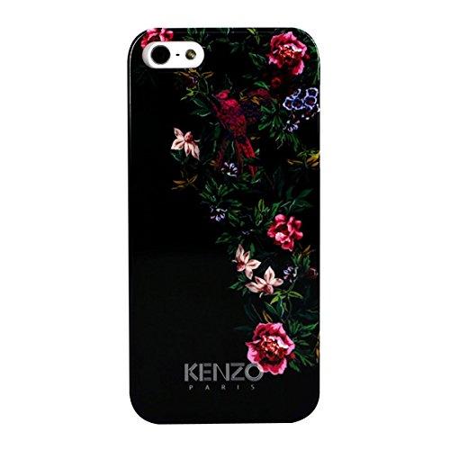 Kenzo Exotique Coque rigide en pour iPhone 5 Noir avec Fleur