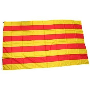 AZ FLAG Flagge KATALONIEN ESTELADA BLAVA 90x60cm flaggen Top Qualit/ät AUTONOMEN KATALANISCHEN Fahne 60 x 90 cm Aussenverwendung