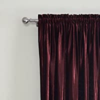 MZMZ Warm Protecting & Noise Reducting (Two Panels) Classic Velvet Solid Lined Curtain , Double Pleated-2* , Double Pleated-2* from MZMZ