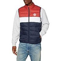 Jack & Jones Mannen JJEMAGIC BODYWARMER COLLAR STS vest, Tango Red, XL