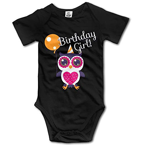 Hat New Birthday Girl Owl Baby Playsuit Outfits In 4 Sizes (Girl In Baby Outfit Santa)