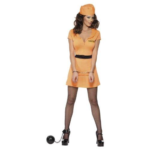 Sexy Gefangenen-Kostüm für Damen - S (Die Dame Aus Der Birds Kostüm)