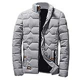 Manadlian Herren Winter Reißverschluss Wollbluse Verdickung Mantel Pullover Outwear Bluse