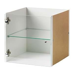 ikea expedit legen sie mit glast r wei 33x33 cm k che haushalt. Black Bedroom Furniture Sets. Home Design Ideas