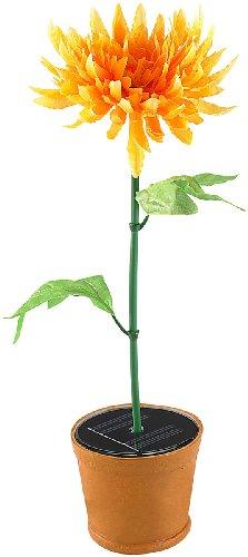 Lunartec Solar-Blumentopf (künstliche Pflanze) mit Farbwechsel-LED