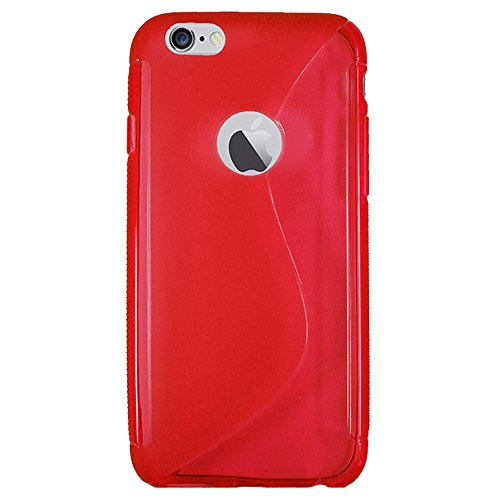 Für Apple iPhone Rubber Silikon Case Tasche Back Cover Hülle iPhone 6 Weiss Rot