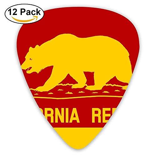 Accessories Large California Flags Bear Acoustic Gauge Guitar Picks 12 Packs 4 Gauge Vs 8 Gauge