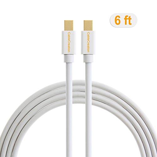 CableCreation 6ft/1.8M Gold Mini DisplayPort to Mini DisplayPort Cable, Connect Macbook/Mac Mini to iMac (2009-2010 version) Dell U3415W/U2414H AH-IPS/U3014 4K Monitors that has Mini DisplayPort Port. White