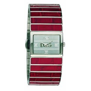 Dolce & Gabbana De Ibiza DW0081 – Reloj de Mujer de Cuarzo, Correa de Piel Color Rojo
