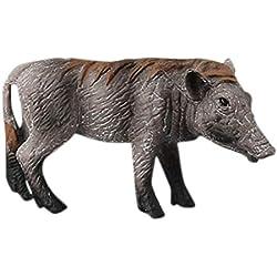 Webla 14 Zoll Cartoon Mit Kapuze N277 Band Rosa Wissenschaft Pädagogisches Wildschwein Tiere Modell Ornament Figur Spielzeug Für Kinder Geschenk C (C)