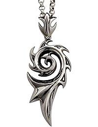 DUlijun Alas de dragón plata 925 hombres dominantes de collar colgante de plata