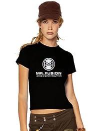 Mr Fusion T-Shirt, flux kompensator, back to the future, Retour vers le futur, XXL, Ladies schwarz