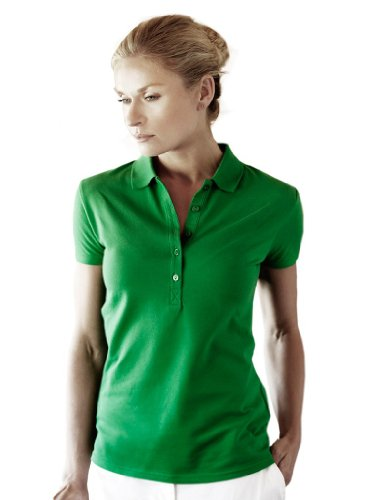 Tee Jays Ladies Stretch Piqué Poloshirt Deluxe 145 S,Spring Green (Stretch Polo Piqué Damen)