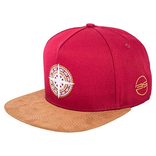 Blackskies North Star Snapback Cap | Damen Herren Baseball Mütze Kappe Surfer Skater Kompass Anker Kunst-Wildleder