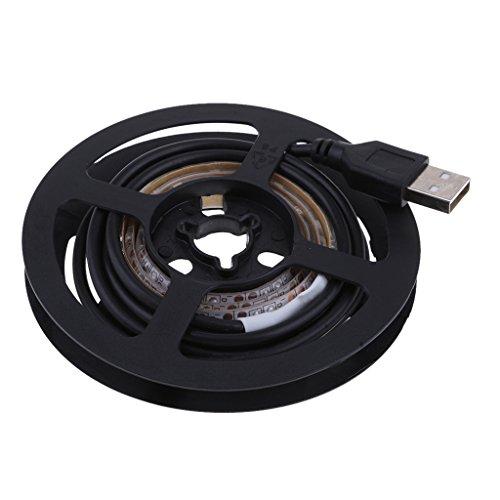 MagiDeal 5V USB LED TV Hintergrundbeleuchtung, Warmes Weiß 3000K/6000K für TV Backlight Fernseher Beleuchtung Dekoration - 6000K 0.5m