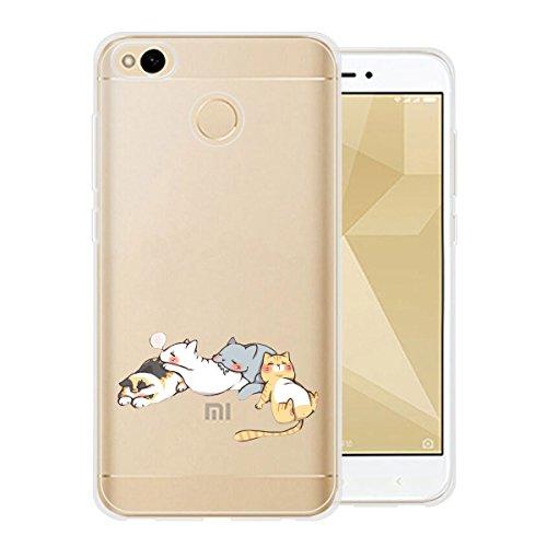Hülle für Xiaomi Redmi 4X , IJIA Transparente Niedliches Cartoon-Baby TPU Weich Silikon Stoßkasten Cover Handyhülle Schutzhülle Handyhüllen Schale Case Tasche für Xiaomi Redmi 4X (5.0