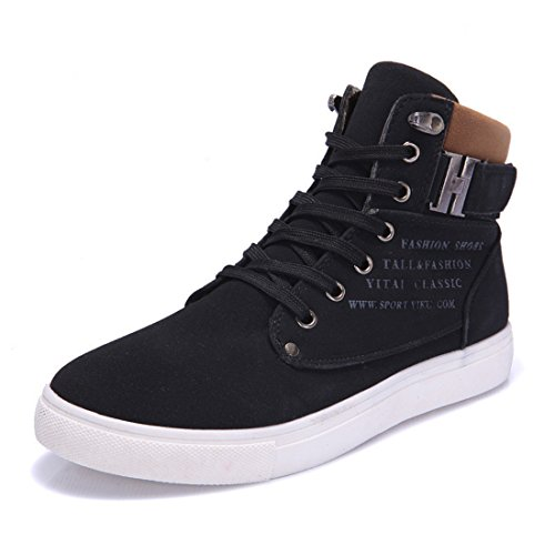 Men's High Quality Nubuck Leather High Top Suede Ankle Shoes 3