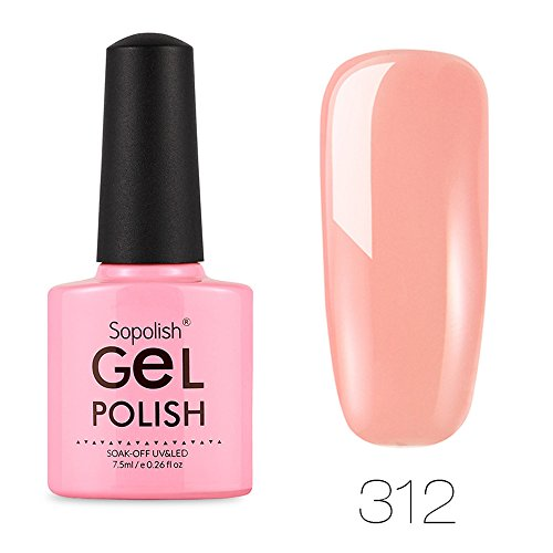 Nail Gel Polish Farbgel Nagelgel Nudefarben Gellack UV Lacken Nagelgel LED Nagellack Nail Polish Set Soak off Gel Nagellack für Nail Art ()