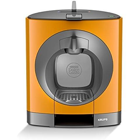 Krups Dolce Gusto OBLO - Cafetera (Independiente, Pod coffee machine, Coffee capsule, Negro, Gris, Naranja, Café largo, Capuchino, Café expreso, Latte macchiato)