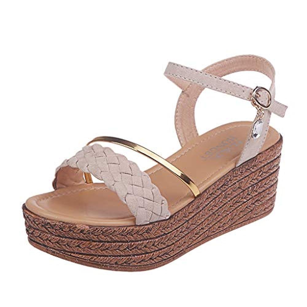Frauen Rom Sandalen ❤AG & T❤ Mode Lässig Kristall Wedge Offene Zehe Plattform High Heels Schuhe