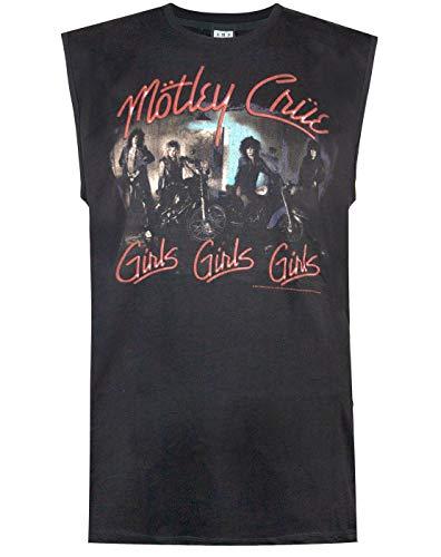 Amplified Motley Crue Girls Girls Girls Mens Sleeveless T-Shirt (L) -