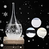MAGT Storm Glass, Storm Glass Creative Drop-Shaped Storm Glass Bottle Desktop Weather Station Weather Predictor As The Gift For Wedding Or Birthdays