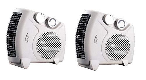 Lot de 2 radiateurs soufflant électrique Adler AD77 - Chauffage d'appoint - 2 niveaux de chauffage 1000W / 2000W