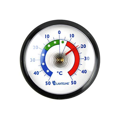 Lantelme Kühlschrankthermometer Rund Selbstklebend schwarz Gefrierschrank Analog Kühlschrank Thermometer + - 50°C 4904