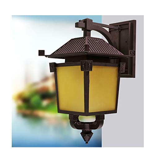 Lamp Outdoor Wall Light, European Retro Waterproof LED Wall Light, Suitable  For Corridor Balcony And Gate Pillar Wall (Size : A)