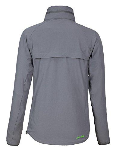 Jeff Green Damen Sportjacke Lily - atmungsaktiv, leicht und elastische Jacke für Sport und Freizeit Grau