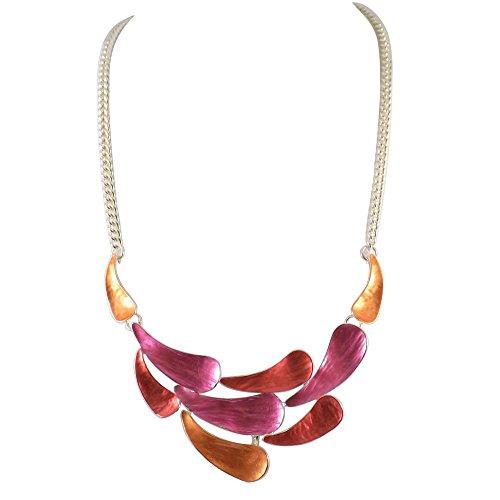 bcbg-collier-fantaisie-femme-rose-et-orange-laiton-argente-hypoallergenique-cadeau