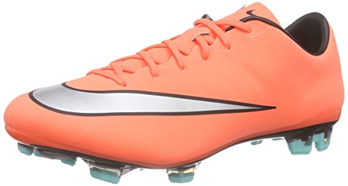 Nike Mercurial Veloce II FG, Chaussures de Football Homme Amarillo / Plateado / Verde (Brght Mng / Mtllc Slvr-Hypr Trq)