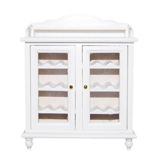 1/12 Puppenhaus Miniaturen Wohnzimmer Möbel aus Holz Weinklimaschrank Weiß