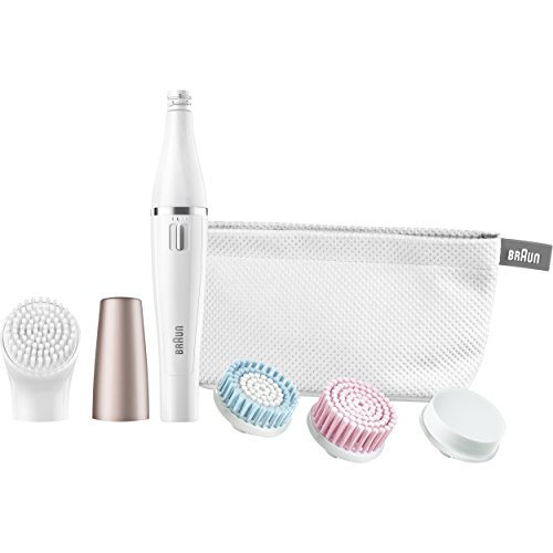 Braun Mini-Facial Electric Hair Removal Epilator For Women With 4 Facial Cleansing Brushes & Beauty Pouch - Se851