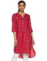Global Desi Women's Rayon Straight Kurta